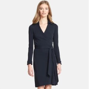 DVF New Jeanne Two Black Wrap Dress